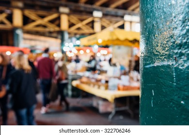 LONDON, UNITED KINGDOM - Borough Market, near London Bridge. It is one of the largest and oldest food markets in London