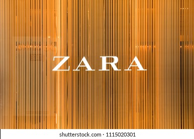 LONDON, UNITED KINGDOM - CIRCA MAY, 2018: Zara store. Zara is a Spanish clothing and accessories retailer based in Arteixo, Galicia, and founded in 1975 by Amancio Ortega and Rosalia Mera.