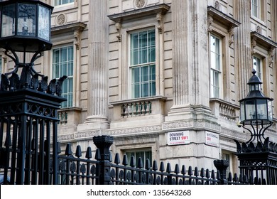 LONDON, United Kingdom DEC 15: Downing Street is the official office of the British Prime minister on December 15, 2012 in London, United Kingdom.