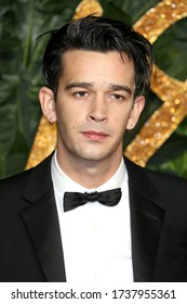 London, United Kingdom - December 10, 2018: Matthew Healy attends The Fashion Awards at Royal Albert Hall in London, UK.