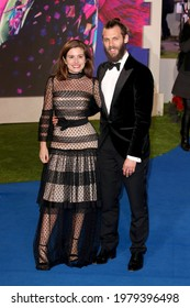 """London, United Kingdom - December 12, 2018: Rachel Shenton and Chris Overton attend  the European Premiere of """"Mary Poppins Returns"""" at Royal Albert Hall in London, England."""