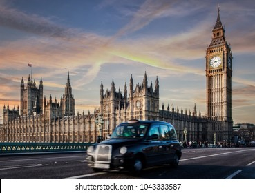 LONDON, UNITED KINGDOM - December 16, 2014: The most famous London landmark Big Ben from Westminster bridge . London is the world's most-visited city as measured by international arrivals.