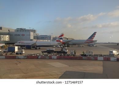 London, United Kingdom – December 22, 2018: Terminal 3, Heathrow Airport, London, United Kingdom, Europe