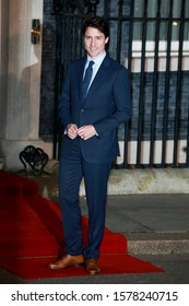 London, United Kingdom- December 3 2019: Justin Trudeau attends a reception at No.10 Downing Street with foreign leaders ahead of the NATO meeting in London.