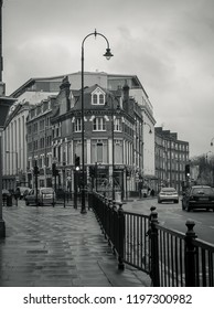 London, United Kingdom - December 31, 2012: A corner with typical architecture of a suburban area in London.