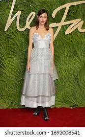 London, United Kingdom- December 4, 2017:  Alexa Chung attends The British Fashion Awards at The Royal Albert Hall in London, UK.