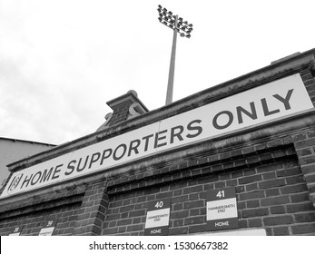 LONDON, UNITED KINGDOM: Entrance for the home supporters at Fulham Football Club, Craven Cottage.
