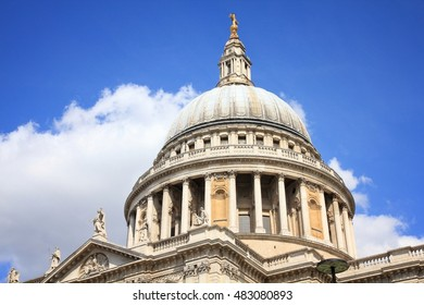 London, United Kingdom - famous St. Paul's Cathedral church.