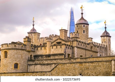 LONDON, UNITED KINGDOM - FEBRUARY 04, 2018: The Tower of London, officially Her Majesty's Royal Palace and Fortress of the Tower of London, is a historic castle located on the River Thames