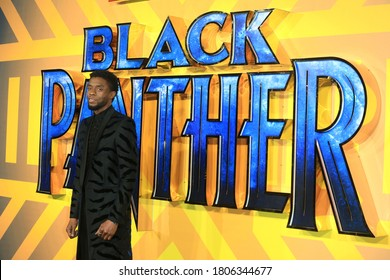 London, United Kingdom - February 08, 2018: Chadwick Boseman attends the European Premiere of 'Black Panther' at Eventim Apollo in London, UK.