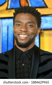 London, United Kingdom - February 08, 2018: Chadwick Boseman attends the European Premiere of 'Black Panther' at Eventim Apollo in London, England.