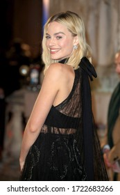 London, United Kingdom - February 18, 2018: Margot Robbie attends the EE British Academy Film Awards (BAFTAs) held at the Royal Albert Hall in London, UK.