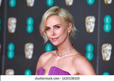 London, United Kingdom- February 2, 2020: Charlize Theron attends the British Academy Film Awards at the Royal Albert Hall in London, UK.