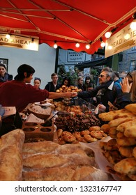 London, United Kingdom - February 24, 2019: Borough Market, one of the oldest, largest, and the most popular food markets in Southwark, London