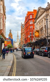London, The United Kingdom of Great Britain - May  24, 2015: Colorful streets of London in a beautiful afternoon