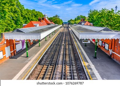 London, The United Kingdom of Great Britain: Colorful London train station in a beautiful afternoon