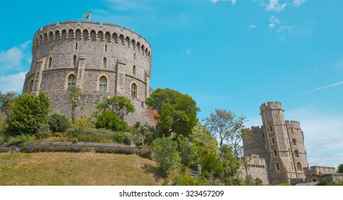 LONDON, UNITED KINGDOM OF GREAT BRITAIN, JULY 2015 - Old Castle Windsor in England