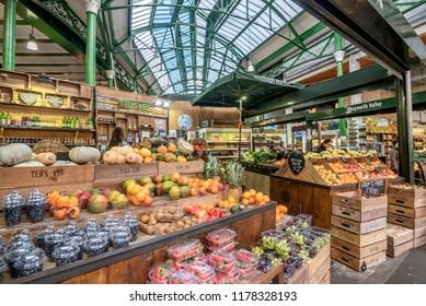 London, United Kingdom- January 10, 2018:Borough Market in London, United Kingdom