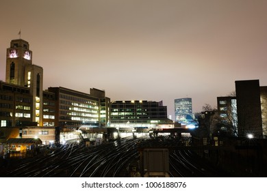 London / United Kingdom - January 13, 2018: The London Railroad view from Ebury Bridge, London, UK
