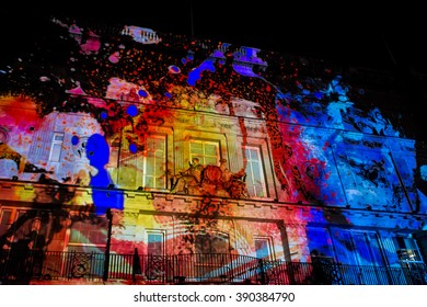 London, United Kingdom - January 16, 2016: Lumiere London 2016 festival: