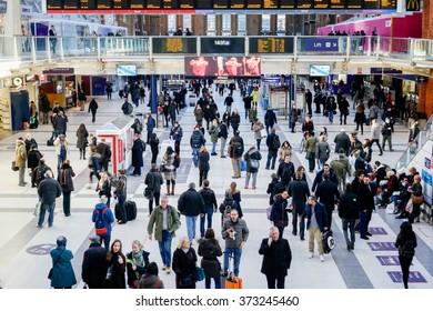 LONDON, UNITED KINGDOM - JANUARY 17 2016: Liverpool Street Station in London, United Kingdom.