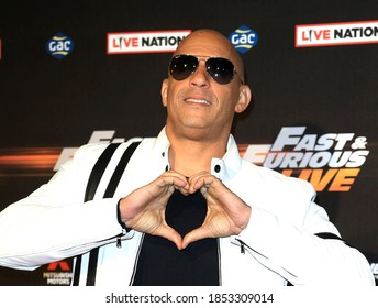 London, United Kingdom - January 19, 2018: Vin Diesel attends the 'Fast and Furious Live' premiere at The O2 Arena in London, England.