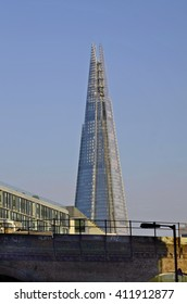LONDON, UNITED KINGDOM - JANUARY 19:Sky scraper named The Shard, highest building from London situated at London bridge, Southwark, on January 19, 2016 in London, England