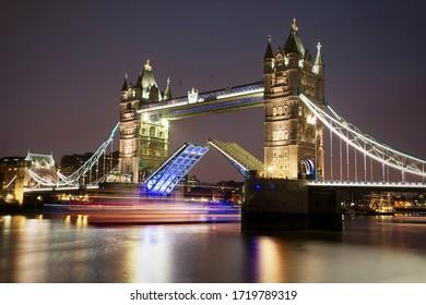 London, United Kingdom - January 2015: Tower Bridge at night