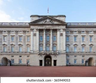 LONDON, UNITED KINGDOM - JANUARY, 2016: Buckingham Palace in Central London