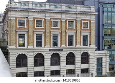London, United Kingdom - January 25, 2013: Glaziers Hall Building River Side View at Southwark in London, UK.