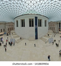 London, United Kingdom - January 28, 2013: Interior of Great Court Hall at British Museum in London, UK.