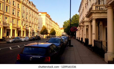 London, United Kingdom - July 09, 2018: Pimlico is a small area in central London, in the borough of Westminster. Pimlico is considered one of the most fashionable and expensive areas of London.