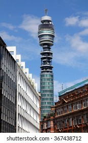 LONDON, UNITED KINGDOM - JULY 14, 2014: BT communications tower - One of London's most famous landmarks
