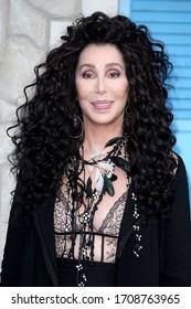 "London, United Kingdom- July 16, 2018: Cher attends the UK Premiere of ""Mamma Mia! Here We Go Again"" at Eventim Apollo in London, UK."