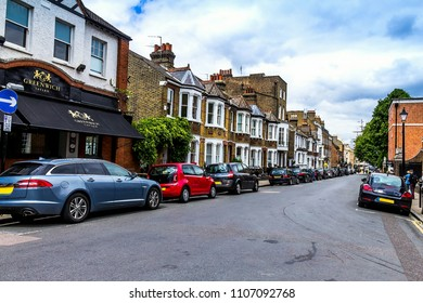 London, United Kingdom - June 09, 2015: King William Walk with famous Greenwich Tavern public house in Greenwich