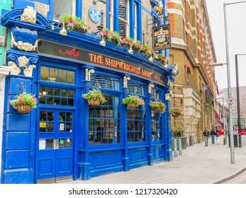 LONDON, UNITED KINGDOM - JUNE 09, 2013: Old British pub in London, United Kingdom