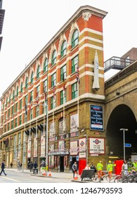 LONDON, UNITED KINGDOM - JUNE 10, 2013: Street view. Borough Market. London, United Kingdom