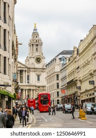 LONDON, UNITED KINGDOM - JUNE 11, 2013: Road Traffic in London. Street view with cars and people. London, United Kingdom