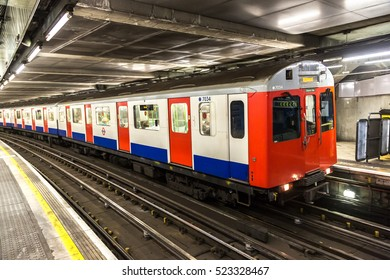LONDON, UNITED KINGDOM - JUNE 14, 2016: London Underground Tube Station in London, England, United Kingdom on June 14, 2016