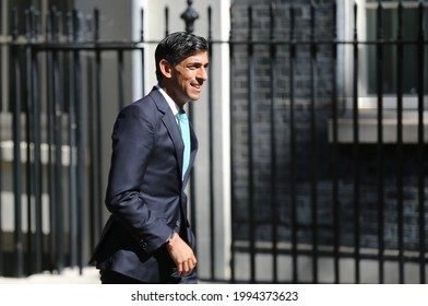 London, United Kingdom - June 16 2021: Chancellor of the Exchequer Rishi Sunak arrives in 10 Downing Street.