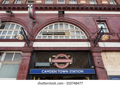 LONDON, UNITED KINGDOM - JUNE 17, 2015: Camden Town Station. The Underground system serves 270 stations and has 402 kilometres (250 mi) of track, 45 per cent of which is underground.