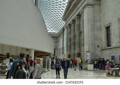 London, United Kingdom, June 2018. At the british museum, a moai. The moais are statues of Easter Island, in the middle of the Pacific Ocean. The meaning of the moai is still unclear and in the studio