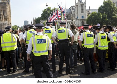 London, United KIngdom - June 21, 2017: Day of Rage. People from the community of Grenfell Tower marched from home to Parliament Square to demand justice for those who died.