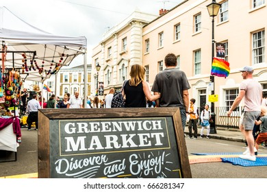 London, United Kingdom - June 26, 2017: Greenwich and Docklands International Festival. Greenwich market