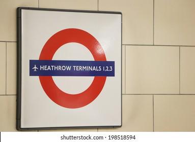 LONDON, UNITED KINGDOM - JUNE 4: Underground sign June 4, 2013 in London, United Kingdome