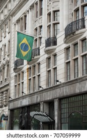 London, United Kingdom - June 5th, 2016: The Brazilian embassy in London, located at 14/16 Coskspur Street.