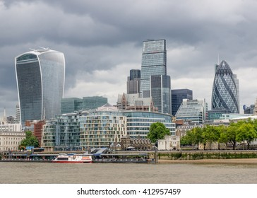 London, United Kingdom - June 8, 2015: London Cityscape with many beautiful buildings