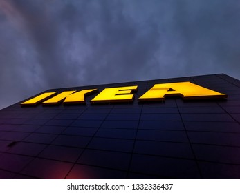 London, United Kingdom - March 01, 2019: New IKEA store opened in Greenwich, Millennium Leisure Park East , South East London.