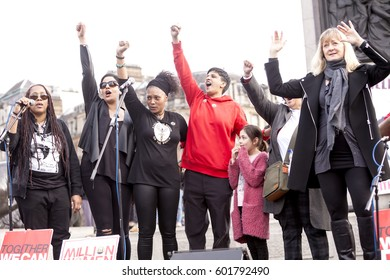 London, United Kingdom - March 11, 2017: Million Women Rising. A Million Women Rising is a march by only women to protest the violence against women around the world. It is diverse and inclusive.