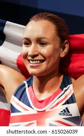London, United Kingdom - March 17, 2017: Jessica Ennis-Hill wax figure at Madame Tussauds London